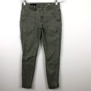 J.Crew Tall skinny zipper pant Green Size 26
